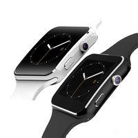x6 touch großhandel-X6 Smart Uhren mit Kamera Touchscreen Unterstützung SIM TF Karte Bluetooth Smartwatch für iPhone X Samsung s9 Telefon goophone mit Kleinkasten