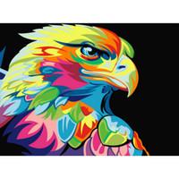 abstrakte malereien china großhandel-China leinwand malerei set abstrakte acryl Voll Paste baumwolle Quadrat Kreuzstich Hauptdekoration Gemälde drop shipping