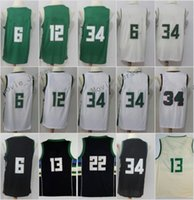 Wholesale new middleton - New Fans Jerseys 6 Eric Bledsoe 34 Giannis Antetokounmpo 12 Jabari Parker 22 Khris Middleton 13 Malcolm Brogdon 100% Stitched Green The City