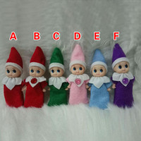 Wholesale elf babies toy resale online - Christmas Baby Elf Doll Plush Toys Cute Boy Girl Elves Stuffed Dolls Kid Children XMAS Toys Decorations Gifts