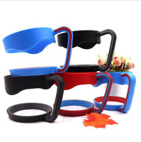 Wholesale cup holders for tables - Thermal Mug Handle For Cup Portable Anti-slip Plastic Table Cup Holder Mug Holder 4 Colors 50pcs OOA4598