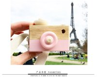 Wholesale toy camera free shipping online - free ship Cute Wooden Camera Baby Kids Hanging Camera Photography Prop Decoration Children Educational Toy Birthday Christmas Gifts AJI