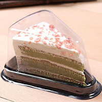 Wholesale individual cakes for sale - Group buy Cake Trays Mousse Cake Packaging Boxes Individual Black Plastic Bottom Transparent Cover ZA6129
