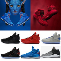 Wholesale Corsa Black - (With Box)Hot Sale Air Retro 32 32s Men Basketball Shoes Grey Black Red Blue Rosso corsa Bred multicolor Sports Sneakers 40-46