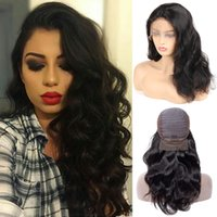 Wholesale weave hairstyles for black hair online - Brazilian Virgin Hair Body Wave Weaves Lace Front Wigs Peruvian Indian Malaysian Body Wave Remy Full Lace Hair Wigs For Women Black Color