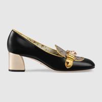 Wholesale women dress shoes for sale - Women mid heel pump fashion Dress shoes high quality LUXURY BRAND Designer shoes Size model