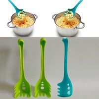 Wholesale cook tools - Loch Nessie Monster Noodles Spoon Creative Plastic Long Handle Eating Noodle Helper Spoons Cooking Tools Kitchen Accessories HH7-1250