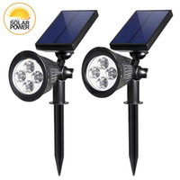 Wholesale Automatic Street Lights - solar light outdoor garden 4LED Adjustable White Warm White colour waterproof Automatic On Off Sensor for Pathway, Garden