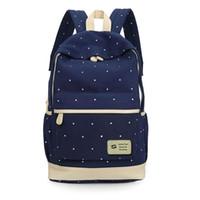 okul çantası çantası toptan satış-Taze Tuval Kadın Sırt Çantası büyük kız öğrenci kitap çantası ile çanta dizüstü 3 adet set çanta için yüksek kaliteli bayanlar okul çantası genç
