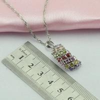 Wholesale Multicolor Jade Bracelet - ewelry sets for women WPAITKYS Trendy Sail Multicolor Cubic Zirconia Silver Color Jewelry Sets For Women Earring Necklace Ring Bracelet F...