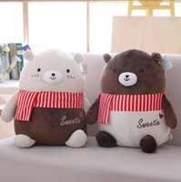 Wholesale christmas gift for girlfriend year resale online - New Design Pc Cm Adorable Lovers Chocolates Bear Toys With Beautiful Scarf Doll Birthday Christmas Gift For Girlfriend
