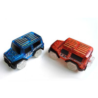 Wholesale toy tracks for cars - LeadingStar 1Pc Children LED Electric Car Toy for Glow Tracks Shining in the Dark Amazing Racetrack Race Car(Not Include Tracks)