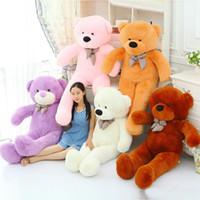 satılık oyuncak oyuncak ayılar toptan satış-Sıcak satış yeni 80 cm Dev kabuk dev teddy bear cilt kabuk sevgililer Günü tatil hediye ayı Peluş Oyuncaklar