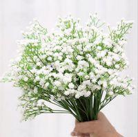 Wholesale white gypsophila flowers - New Arrive Gypsophila Baby's Breath Artificial Fake Silk Flowers Plant Home Wedding Decoration