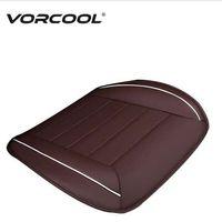 almofada de assento de carro completo venda por atacado-VORCOOL 1 Pcs Universal Almofada Do Assento de Carro de Couro Almofada Cobertura Completa Front Auto Tampa de Assento Mat para Proteção