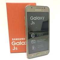 """téléphones cellulaires gsm dual core achat en gros de-Téléphone portable d'origine Samsung galaxy J5 J500F déverrouillé Quad core Snapdragon 1,5 Go de RAM 8 Go de ROM 5,0 """"WCDMA remis à neuf"""