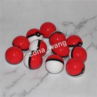 Wholesale pokeball wax jars for sale - Group buy Pokeball Silicone Container Wax Jars Food Grade Silicon Gel Ball Shaped Storage Box For Dry Herbal Vaporizer Glass Bong Accessories DHL Free