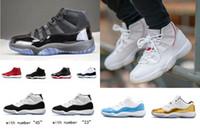 çocuklar için mavi basketbol ayakkabıları toptan satış-11 11 s concord 45 Platin Ton çocuklar Büyük boy Erkek Kadın Basketbol Ayakkabıları kap ve Kıyafeti spor kırmızı bred Legend gama mavi Spor eğitmeni Sneaker