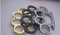 Wholesale wholesale brass knuckle jewelry for sale - New Thin Steel Brass knuckle dusters Buckle Fighter Women Men Four Fingers Rings Bague Rings Jewelry