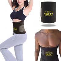 Wholesale Tummy Slim Shapewear - Women And Men Sweat Belt Hot Shapers Neoprene Slim Belts Body Shaper Tummy Control Waist Trainers Cinchers Fat Burning Shapewear