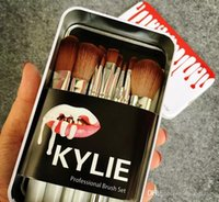 Wholesale professional makeup tool box for sale - Limited Kylie Makeup Brushes set Professional Eyeshadow Brush Set Foundation Powder Beauty Tools Cosmetic Brush Kits with Retail Box
