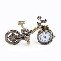 steampunk bronz zincir toptan satış-Steampunk Cebi Erkekler Kadınlar Için Bronz Bisiklet Kuvars Pocket saat Yaratıcı Kolye Kolye Saat Zinciri