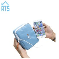 Wholesale Charger Storage Box - Mobile Phone USB Cable Earphone Charger Box Bag Portable Digital Device Organizer Travel Headphone cable digital Storage Bags