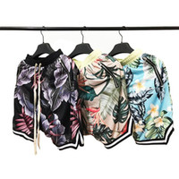 fashion collection men 2018 - New Floral The 1987 Collection FOG fearofgod Beach Mesh Shorts Summer Style Men Fear Of God Shorts