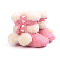 Wholesale baby girl white booties for sale - Group buy Winter Girls Soft Plush Booties Infant Anti Slip Snow Boots Shoes Warm Cute Snow Baby Girl Boots
