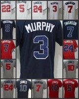 Wholesale Xxl Women Tops - Atlanta Top Men's Braves Jerseys #3 Dale Murphy 5 Freddie Freeman 7 Dansby Swanson 10 Chipper Jones 22 Nick Markakis Women Youth Jerseys