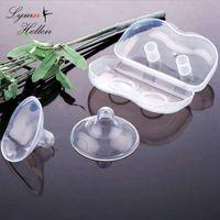 ingrosso capezzolo morbido del bambino-2Pcs / pair Morbido Silicone ultrasottile Copricapo Protezione per l'allattamento al seno per il latte materno Coperchio per la cura delle tettarelle