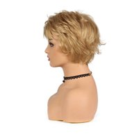 ingrosso parrucche oblique bang-Parrucche sintetiche naturali afroamericane diritte della miscela calda diritta di modo caldo per le donne con i colpi obliqui