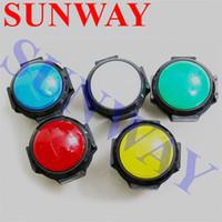 Wholesale illuminated push switch - 10pcs  lot 60mm Convex Round Push Button 12V Illuminated Push Button LED Arcade Switch