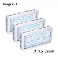 Wholesale Very Chip - 3pcs Lot King plus 1200W Double Chips LED Grow Light Full Spectrum 410-730nm For Indoor Plants and Flower Phrase Very High Yield