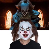 Wholesale mask movie props for sale - Horrible Clown Masks Movie Stephen King s It Pennywise Cosplay Latex Joker Mask Party Prop Party Supplies OOA5745