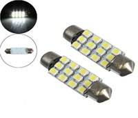 ingrosso grandi lampadine principali-31mm 36mm 39mm 41mm Festoon Dome 12 SMD LED 1210/3528 Car Interior Lampadina Lampada 12smd 12led White Big Promotion