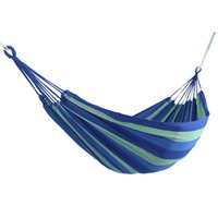 Sports & Entertainment Portable Outdoor Hammock 280x 80cm 120 Kg Load-bearing Garden Sports Home Travel Camping Swing Canvas Stripe Hang Bed Hammock Camping & Hiking