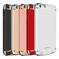 Wholesale external backup battery case iphone - JOYROOM Battery Charger Case External Backup Portable Power Bank Battery Case for Iphone 6s 6s plus 7 7plus