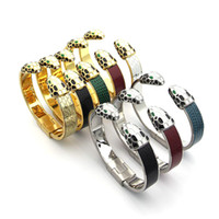 Wholesale multi ring bracelet - Hot high quality titanium steel opening bracelet 18K gold silver multi color bracelet come whit gift boxSuitable for couple gifts