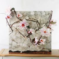 blühende magnolie großhandel-Magnolia 185cm Nylon Flower Künstliche Azaleen Magnolia Künstliche Kuckucke Long Stem Arbitrary Bending New Silk Flower P30 für Party