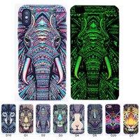 iphone telefonkasten löwenkönig großhandel-Luminous phone case für iphone xxs max 7 8 plus wald könig fällen im dunkeln leuchten tiere löwe muster rückseitige abdeckung