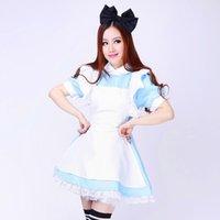 xxl cosplay lolita maids großhandel-Shanghai Geschichte Alice Kleid Lolita Kleid Maid Cosplay Kostüme Fantasie Karneval Halloween Kostüme für Frauen Mädchen