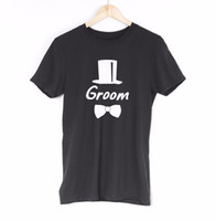 ingrosso regali del partito dello sposo-Groom Mens T Shirt Tee Groomsmen Bachelor Wedding Party Idea regalo divertente