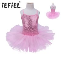 Wholesale kids ballerina dress - 2017 Kids Girls Ballet Dress Baby Children Cosplay Tutu Flower Dress Tulle Dancewear Clothing Ballerina Fairy Party Costumes