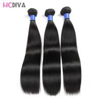 brazilian bakire saç ürünleri satışı toptan satış-Brezilyalı Düz Bakire Saç HC Örgüleri 3 Demetleri 100% Işlenmemiş Bakire Saç Sıcak Ürün En Çok Satan Saç