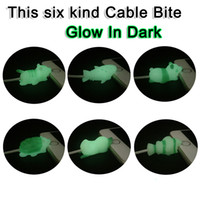 Wholesale glow dark animals online - Glow In Dark Cable Chompers Charger Cable Protector for Iphone Luminous Cable Biters Animal Protective Cord Novelty Items OOA5515