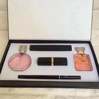parfüm 15ml toptan satış-kutu Dudaklar kozmetik kiti damla nakliye J2102 ile 1 yılında Makyaj seti 15ml parfüm ruj göz kalemi maskara 5