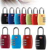 Wholesale padlocks combination digit for sale - Group buy TSA Digit Code Combination Lock Resettable Customs locks Travel locks Luggage Padlock Suitcase High Security Multi colors optional I400