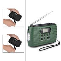rádio portátil de energia solar venda por atacado-RD-323 AM / FM Rádio Portátil Hand Crank Power Banco de Potência Solar de Emergência Suporte de Suporte Mp3 Music Player Ao Ar Livre Lanterna