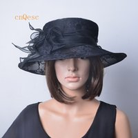 Wholesale black lace wedding hat for sale - Group buy NEW ARRIVAL black lace organza hat bridal hats formal dress hat for wedding church party ascot races melbourne cup kentucky derby